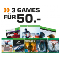 Top! 3 Games um 50 € (z.B. Halo 5 + Forza 6 + Tomb Raider statt 157 €)