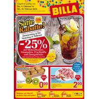 Unglaubliche Wochen bei Billa: 25% Rabatt auf alkoholfreie Getränke (zB Red Bull um 0,89 €) & 1+1 gratis Artikel