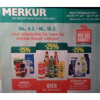 Merkur Angebote: -25% auf 3 Warengruppen & 1+1 Aktionen bis 10.2.