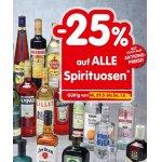 Spar/Eurospar/Interspar: 25% Rabatt auf Spirituosen (bis 21.09.)