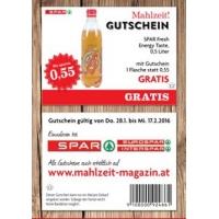 Spar Mahlzeit Gutscheine – zB Spar Fresh Energy Taste 0,5l gratis!