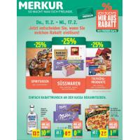 Merkur Angebote: -25% auf 3 Warengruppen & 1+1 Aktionen bis 17.2.