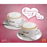 2x Cappuccino zum Preis von einem am Valentinstag bei McCafe