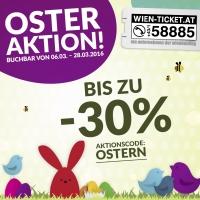 Osteraktion bei wien-ticket.at: bis zu 30 % auf verschiedenste Musicals, Festspiele, Konzerte, … sparen
