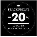 Palmers Black Friday –  20 % Rabatt auf alle schwarzen Teile (nur heute)