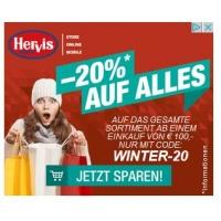 Hervis.at – 20 % Rabatt auf (fast) alles im Onlineshop