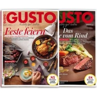 2 Ausgaben des Kochmagazines GUSTO kostenlos – probiermal.at
