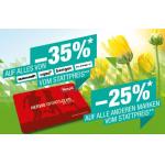 Hervis – bis zu 35% Rabatt in den Filialen / 20% Rabatt Online (bis 20.3.)