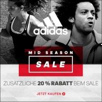 Adidas Outlet: 20% Extra Rabatt auf den Mid Season Sale mit bis zu 50%!