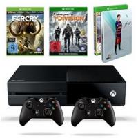 Xbox One 500GB Konsole + 3 Games + 2 Controller um 369,97 €