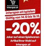 20% Rabatt auf Spielwaren bei Interspar (08. & 09. Dezember)