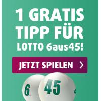 Lotto 6 aus 45 – kostenloser Tipp oder 6 bis 12 Tippfelder mit 50% Rabatt!