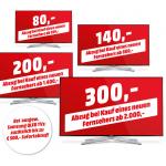 Media Markt: Alt gegen Neu – bis zu 300 € auf den neuen TV sparen