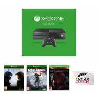 Xbox One 500GB + Halo 5 : Guardians + Rise of the Tomb Raider + Metal Gear Solid V : The Phantom Pain + Forza Horizon 2 (DLC) um 328,88 €