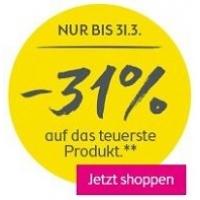 31 % Rabatt auf das teuerste Produkt im BIPA Onlineshop – bis 31.3.