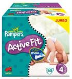 Pampers Active Fit Windeln (Größe 4 / 136 Stück) um 19,49€ @Amazon