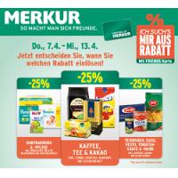 Merkur: -25 % auf 3 Warengruppen (zB.: Babynahrung) bis 13. April 2016