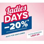 Hervis – 20 % Rabatt auf fast ALLES am WOMAN DAY – nur heute