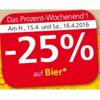Spar/Eurospar/Interspar: -25% auf Bier (Radler) am 15. u. 16.4.2016
