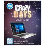 HP Crazy Days 2019 bis 05.10. in vielen österreichischen Online Shops!