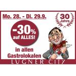 Lugner City: 50 % Rabatt in allen Gastronomie Betrieben am 09.10.2017