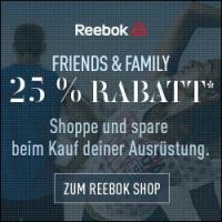 Reebok Online Shop –  25 % Rabatt auf ausgewählte Artikel (bis 30.10.)