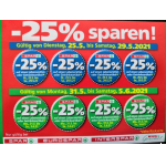 25 % Rabatt-Aufkleber bei der Spar-Gruppe vom 01.07. – 06.07.