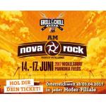 Nova Rock 2017: 4 GRATIS Mahlzeiten&Getränke mit Hofer-Festival-Pass