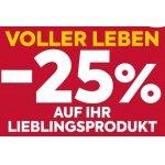 25 % Rabatt-Aufkleber bei Billa (gültig vom 5. – 11.12.)