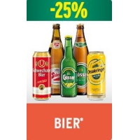 Merkur: 25 % Rabatt auf Bier vom 12. – 18. Mai 2016