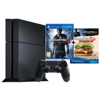 Sony PlayStation 4 1TB – Uncharted 4: A Thief's End Bundle um 369 €