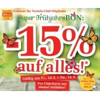 Billa Super Frühjahrsbon – 15% Rabatt auf fast alles – auch online!