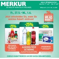 Merkur: -25 % auf 3 Warengruppen (zB.: alkoholfreie Getränke) & GRATIS Panini EM 2016 Sticker zu jedem Einkauf bis 1. Juni