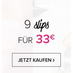 Hunkemöller Onlineshop: 9 Slips um 33 € & 20% Rabatt ausgewählte Teile