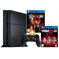 Saturn Tagesdeals – zB Sony PlayStation 4 500 GB (CUH-1216) + WWE 2K16 + NBA 2K16 inkl. Versand um 300 € statt 393 €