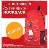 GRATIS Österreich Rucksack in den XXXLutz Filialen am 27. & 28. Mai