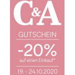 C&A Filialen – 20 % Rabatt auf euren Einkauf (1. – 3. Juni)