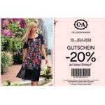 C&A Filialen – 20 % Rabatt auf euren Einkauf (1. & 2. Juni)
