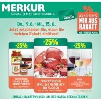 Merkur: 25 % Rabatt auf 3 Warengruppen (zB.: Wein) – bis 15. Juni