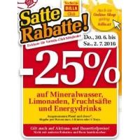 Billa: 25% Rabatt auf Mineral, Limo, Fruchtsäfte & Energydrinks bis 2.7.
