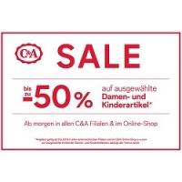 C&A Sale – bis zu 50 % Rabatt auf Damen- und Kinderbekleidung