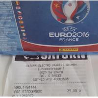 Panini Euro 2016 Sticker – 100er Box um 29 € bei Saturn (nur Salzburg?)