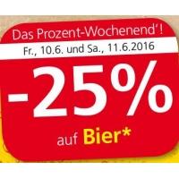 Spar/Eurospar/Interspar: -25% auf Bier (Radler) am 10. u. 11.6.2016