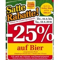Billa: 25 % Rabatt auf Bier (Radler) bis 22.6.2016 für Clubmitglieder