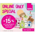 BIPA: 15 % Rabatt auf das gesamte Online Only Sortiment