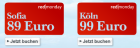 Um 89€ nach Sofia oder um 99€ nach Köln @Austrian redmonday