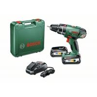Bosch Home and Garden Akku-Schlagbohrschrauber PSB 18 LI- inkl. 2 Akku, Ladegerät, Doppelschrauberbit, Koffer um 122,99 € statt 170,54 €