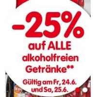 Interspar: 25 % Rabatt auf alkoholfreie Getränke bis 25. Juni 2016