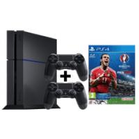 PlayStation 4 500 GB + 2 Controller + UEFA Euro 2016 um nur 299 €