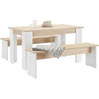Tischgruppe London (2 Sitzbänke + Esstisch) um 68 € auf Mömax.at